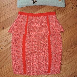 Anthropologie Tracy Reese Orange Skirt 10